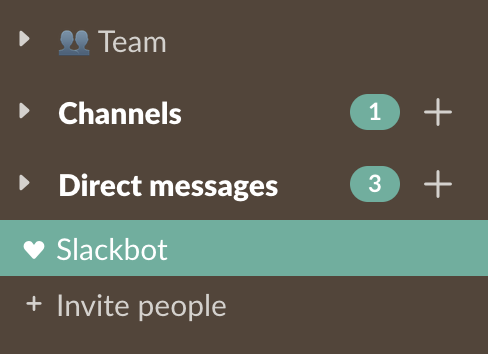 Slack's new sections feature